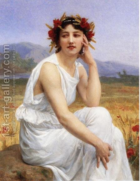 The Muse I by Guillaume Seignac - Reproduction Oil Painting