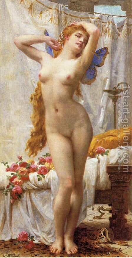 The Awakening of Psyche I by Guillaume Seignac - Reproduction Oil Painting