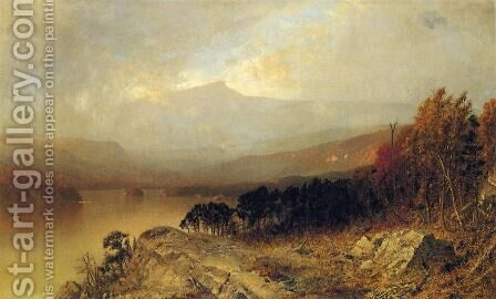 Autumn Landscape by Alexander Helwig Wyant - Reproduction Oil Painting