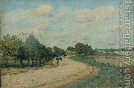 The Route to Mantes by Alfred Sisley - Reproduction Oil Painting