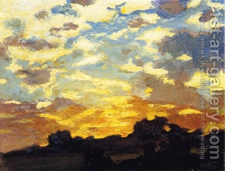 Golden Sunset by Edward Henry Potthast - Reproduction Oil Painting