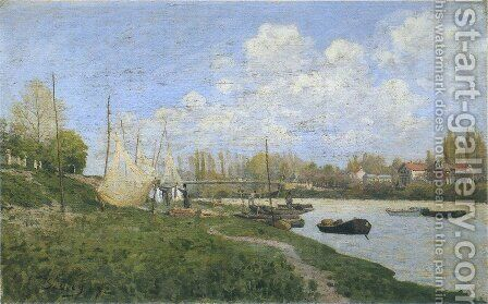 Drying Nets by Alfred Sisley - Reproduction Oil Painting