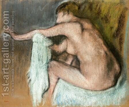 Woman Drying Her Arms by Edgar Degas - Reproduction Oil Painting