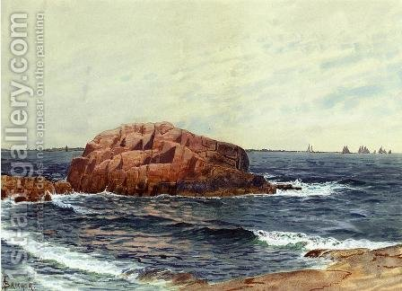 Rocks near the Coast by Alfred Thompson Bricher - Reproduction Oil Painting