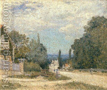 Route from Louveciennes by Alfred Sisley - Reproduction Oil Painting