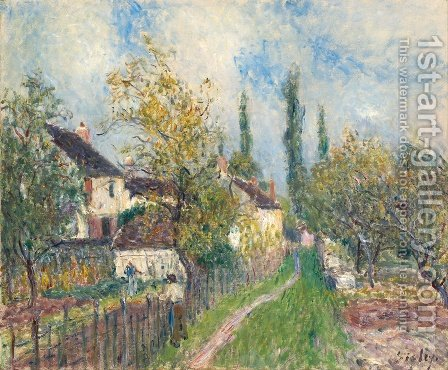 A Path at Les Sablons by Alfred Sisley - Reproduction Oil Painting