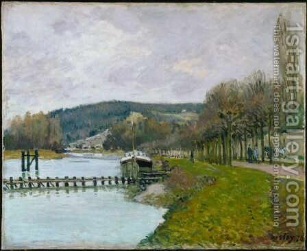 The Slopes of Bougival by Alfred Sisley - Reproduction Oil Painting