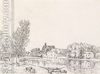 Moret-Sur-Loing IV by Alfred Sisley - Reproduction Oil Painting