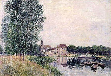 Moret-Sur-Loing V by Alfred Sisley - Reproduction Oil Painting