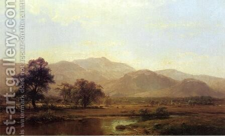 Vermont Mountain Range by Herman Fuechsel - Reproduction Oil Painting