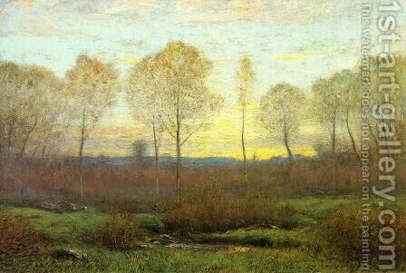 Dawn - Early Spring by Dwight William Tryon - Reproduction Oil Painting