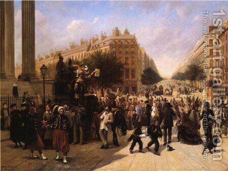 La Place de la Madeleine, Paris by David Jacobsen - Reproduction Oil Painting