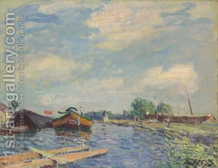 Canal at Saint-Mammes by Alfred Sisley - Reproduction Oil Painting