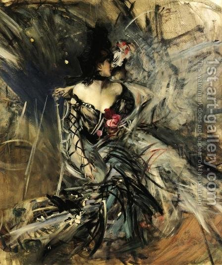 Spanish Dancer at the Moulin Rouge by Giovanni Boldini - Reproduction Oil Painting