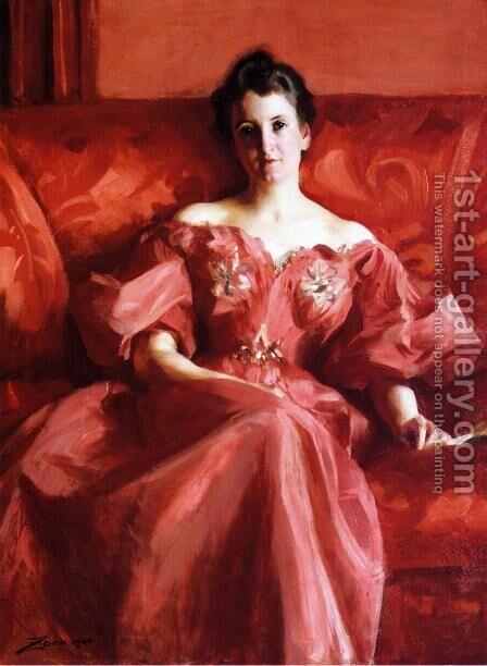Portrait of Mrs. Howe (nee Deering) by Alfred-Emile-Leopole Stevens - Reproduction Oil Painting