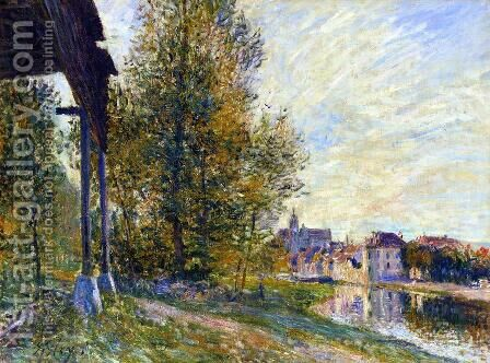 Near Moret-sur-Loing by Alfred Sisley - Reproduction Oil Painting