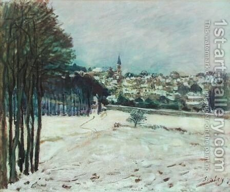 Snow at Marly-Le-Roi I by Alfred Sisley - Reproduction Oil Painting