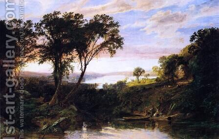 Hudson River View, Summer by Jasper Francis Cropsey - Reproduction Oil Painting