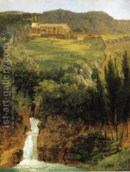 View of the Benedictine Monastery at Subiaco by Antoine-Felix Boisselier - Reproduction Oil Painting