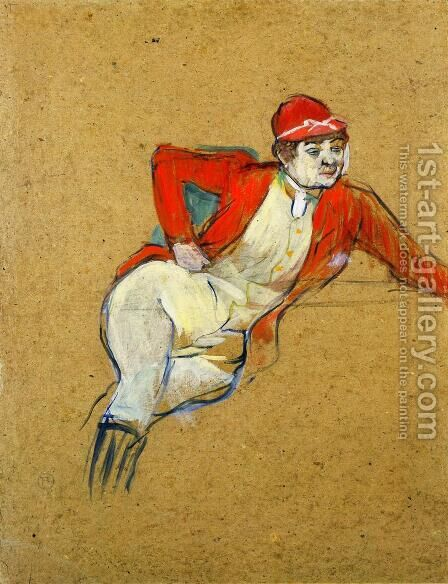 La Macarona in Riding Habit by Toulouse-Lautrec - Reproduction Oil Painting