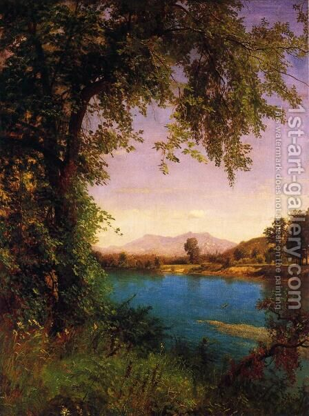 South and North Moat Mountains by Albert Bierstadt - Reproduction Oil Painting