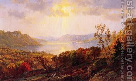 On the Hudson near West Point by Jasper Francis Cropsey - Reproduction Oil Painting