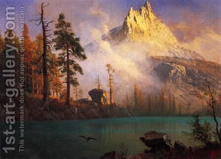 Mountain Lake III by Albert Bierstadt - Reproduction Oil Painting