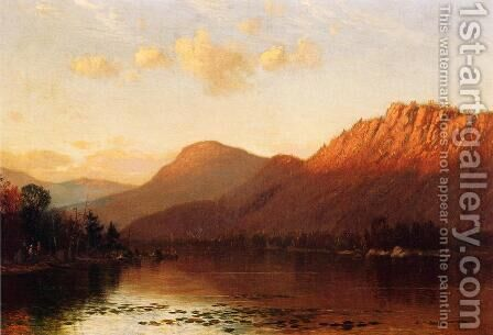 Mountain Lake Scene by James Renwick Brevoort - Reproduction Oil Painting