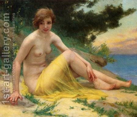 Nude at the Beach by Guillaume Seignac - Reproduction Oil Painting