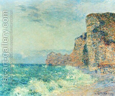 Porte d'Amont, Etretet by Gustave Loiseau - Reproduction Oil Painting