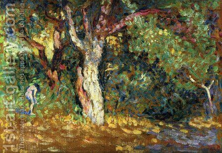 Study for 'In the Woods with Female Nude' by Henri Edmond Cross - Reproduction Oil Painting