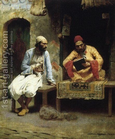 The Letter by Charles Sprague Pearce - Reproduction Oil Painting