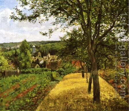 Orchards at Louveciennes by Camille Pissarro - Reproduction Oil Painting