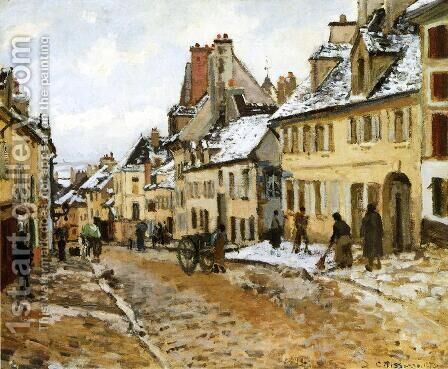 Pontoise, the Road to Gisors in Winter by Camille Pissarro - Reproduction Oil Painting