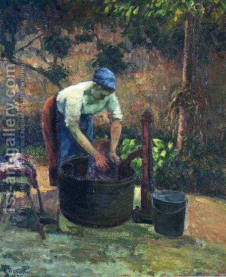 Washerwoman by Camille Pissarro - Reproduction Oil Painting