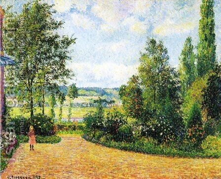 Mirbeau's Garden, the Terrace by Camille Pissarro - Reproduction Oil Painting