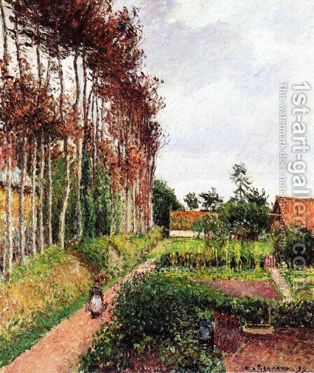 The Field by the Ango Inn, Varengeville by Camille Pissarro - Reproduction Oil Painting