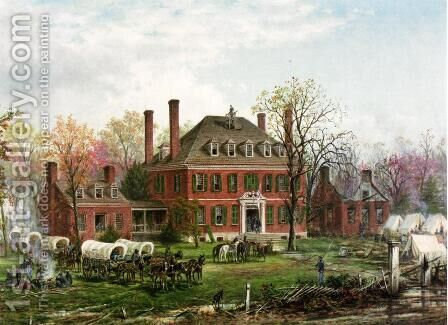 Westover, Virginia by Edward Lamson Henry - Reproduction Oil Painting