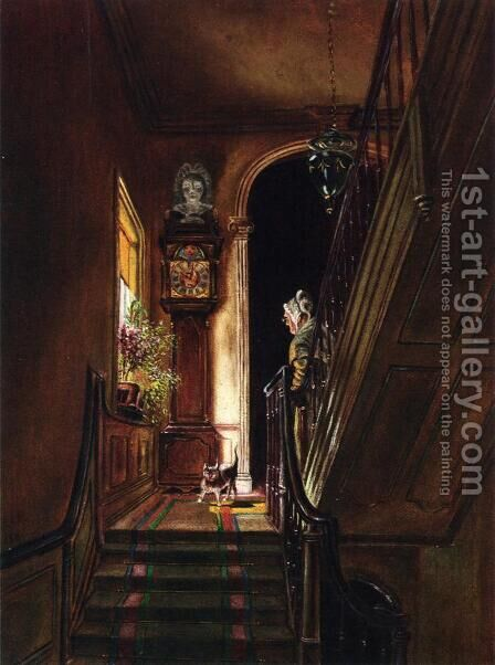 Interior at Petworth by Edward Lamson Henry - Reproduction Oil Painting