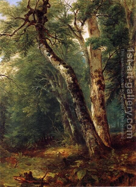 Woodland Interior by Asher Brown Durand - Reproduction Oil Painting