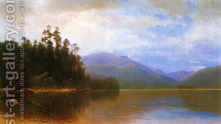 Saranac Lake by Homer Dodge Martin - Reproduction Oil Painting