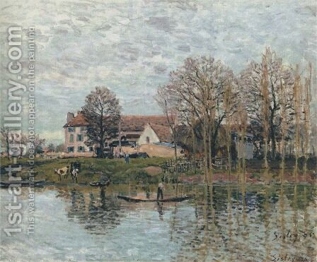 Banks of the Seine at Port-Marly by Alfred Sisley - Reproduction Oil Painting