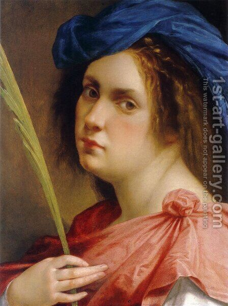 Self-portrait as a Female Martyr by Artemisia Gentileschi - Reproduction Oil Painting
