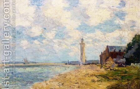 The Mouth of the Seine, Honfleur by Albert Lebourg - Reproduction Oil Painting