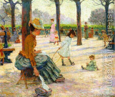 The Square at Luxembourg Park by Claude Emile Schuffenecker - Reproduction Oil Painting