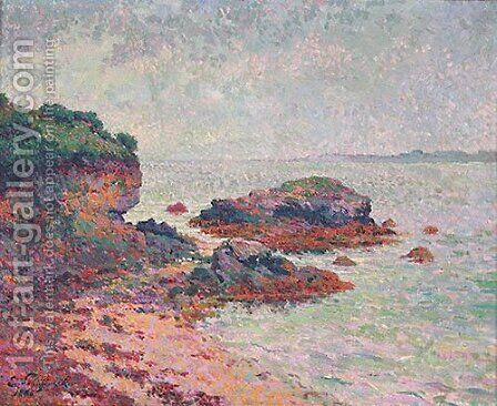 Cote Rocheuse en Bretagne by Claude Emile Schuffenecker - Reproduction Oil Painting