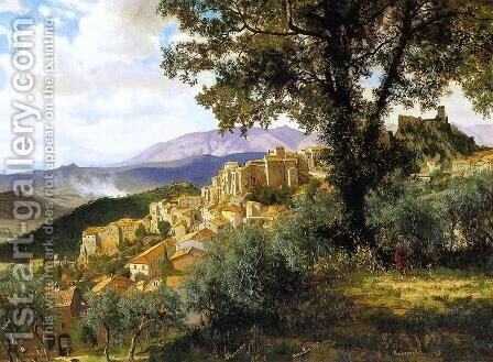 Olevano by Albert Bierstadt - Reproduction Oil Painting