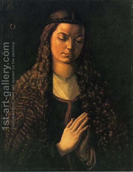 Portrait of a Woman with Her Hair Down by Albrecht Durer - Reproduction Oil Painting
