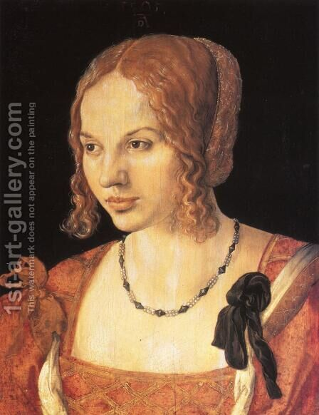 Portrait of a Young Venetian Woman I by Albrecht Durer - Reproduction Oil Painting