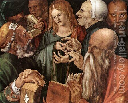 Christ amog the Doctors by Albrecht Durer - Reproduction Oil Painting